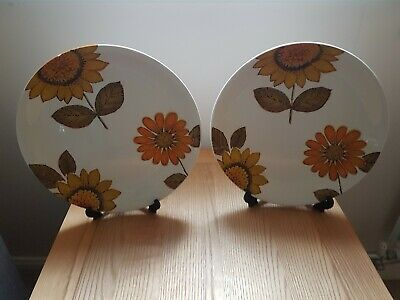 Alfred Meakin Dinner Plates  10 Inch Sunflowers • 6£