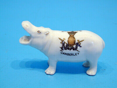 Arcadian Crested China Hippo - Staff College Camberley • 49.99£