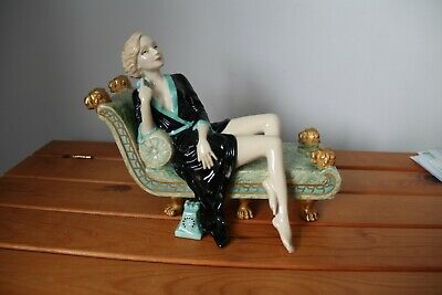 Kevin Francis Porcelain Figure Greta Garbo - I Want To Be Alone - Rare Colourway • 139£