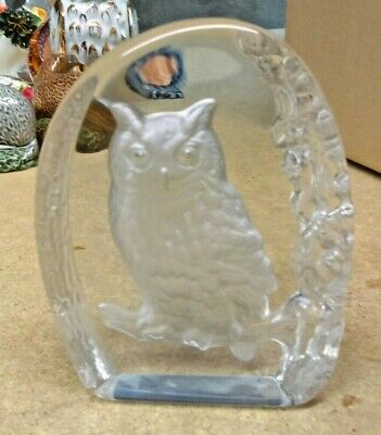 Wedgwood Crystal Glass Owl Paperweight  • 10£