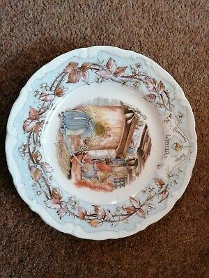 Royal Doulton Brambly Hedge Winter Afternoon Tea Plate 6.5 Ins • 2.20£