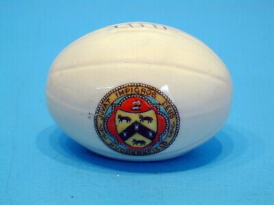 1920's Crested China Rugby Ball - Huddersfield • 11.99£