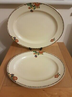 Vintage Crown Ducal Serving Platters Circa 1930's Bit Of Age Related Crazing • 7£