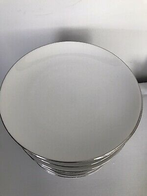 Thomas Medaillon Platinium Band White With Thin Silver Line Dinner Plates • 10£