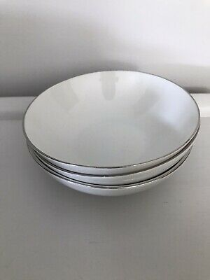 Thomas Medaillon Platinum Band With Thin Silver Line Dessert/Fruit/ Sweet Dishes • 8£