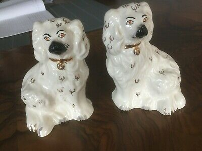 Super Pair Of Vintage Beswick Staffordshire Style Spaniels Dogs - 1378-6 VGC • 30£