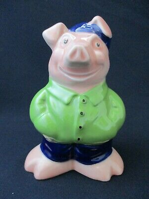 NAT WEST Pig Moneybox, COUSIN WESLEY, WADE, Original Stopper, Rare Collectable • 220£