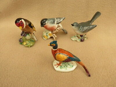 X 4 Vintage Beswick And Other Porcelain Bird Ornaments • 28£