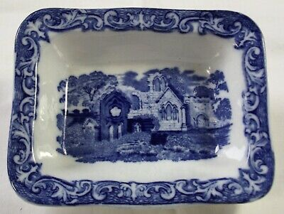A Vintage Blue & White Shredded Wheat Dish - Geo. Jones & Sons - Abbey Design • 3£