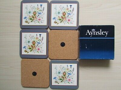 Aynsley  WILD TUDOR  SET OF 6 X COASTERS - VERY GOOD CONDITION. • 14.95£