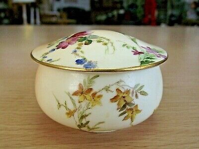 Beautiful Antique Royal Worcester Blush Ivory Small Lidded Pot • 30£