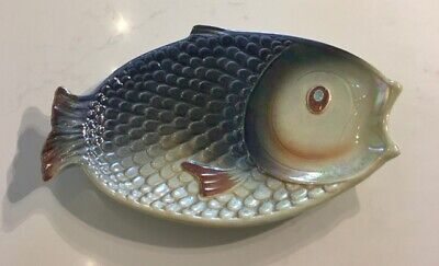 SylvaC Fish Serving Plate Ceramic 4685 Multi Glaze • 22£