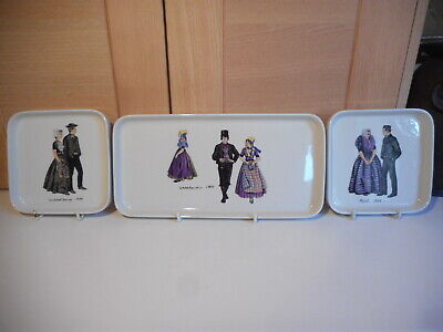 Vintage Villeroy & Boch Septfontaines Dutch Costume Cake Plates 3 Of The Set • 15£
