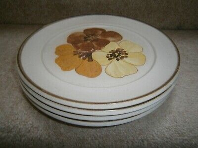 4 Lovely Vintage Denby Potpourri Honey Side Plates 8 Inch Very Good Condition • 9.99£