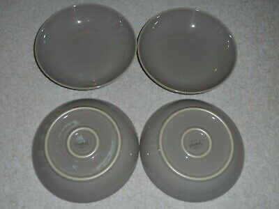 4 X DENBY TRUFFLE BROWN PASTA BOWLS RARE SET - GREAT CONDITION! LITTLE USE! • 29.99£