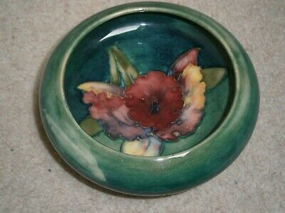 Lovely Stylish Collectable Moorcroft Pottery Pin Dish Hibiscus Pattern • 21£