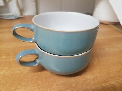 DENBY AZURE Tea - Coffee Cup Excellent Condition X2 • 7.75£