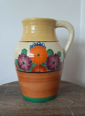 Art Deco Clarice Cliff Gayday Athens Jug (VERY RARE) • 500£