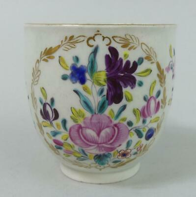 Antique Worcester Early Porcelain Floral Coffee Cup C.1775 • 19£