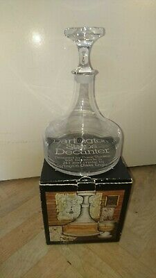 Vintage Dartington 24% Lead Crystal Ships Decanter By Frank Thrower Boxed • 4.99£