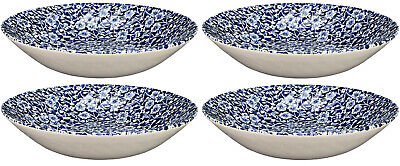 ROYAL WESSEX BY CHURCHILL VICTORIAN CALICO 4x SOUP/PASTA BOWLS 22cm - NEW/UNUSED • 29£