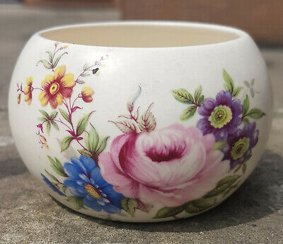 Axe Vale Pottery Small Floral Dish/Sugar Bowl -  CHARITY SALE • 6£
