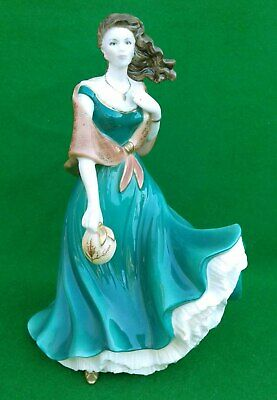 """Royal Worcester  """"cathy"""" Ladies Of Literature Wuthering Heights Gold Edition • 124.99£"""
