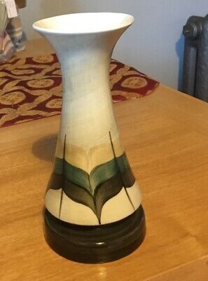 Vintage Jersey Pottery Vase Handpainted Shades Of Green, Grey And Beige • 3.50£