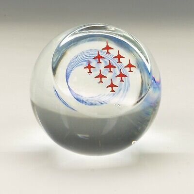 Caithness Glass Paperweight - R.A.F. Red Arrows - Limited Edition! • 9.99£