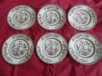 X 6 Johnsons Brothers Indian Tree Side Plates 18cm Or 7 Inch • 9£