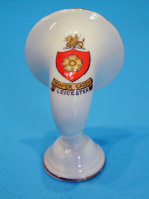 Crested China Radio Horn - Leicester, Made For E. Spall, Leicester • 14.99£