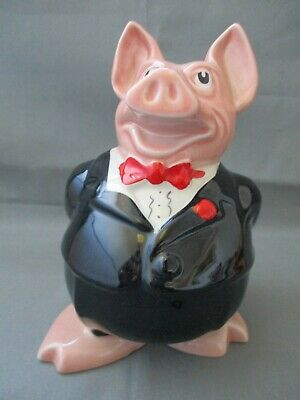 NAT WEST Pig Moneybox, Sir Nathaniel Westminster, Daddy, WADE, Original Stopper • 10£