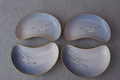 4 Bing & Grondahl Seagull Crescent Salad Side Plates  B&G • 75£