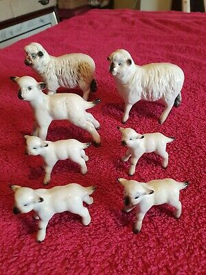 Beswick SHEEP & LAMBS - Mint Condition 7 In Total • 90£
