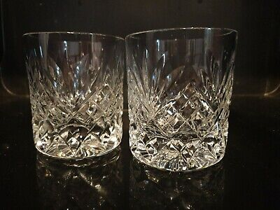2 Crystal Glasses Whisky Tumbler. • 9.99£