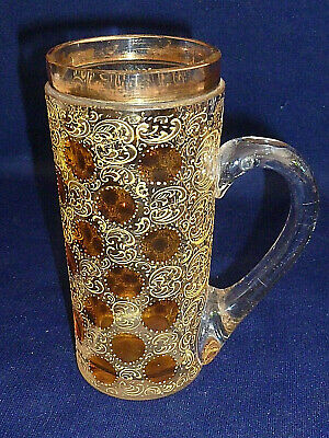 Victorian / Edwardian Decorative Drinking Glass Vintage Old Vgc @5  Patterned • 4.95£