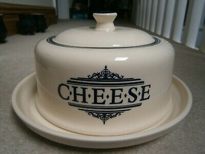 Super Stylish 1869 Victorian Pottery Large Cheese Dish & Domed Lid Barely Used • 21.99£