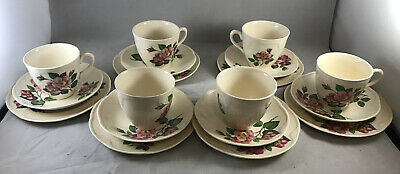 Set Of 6 Cup And Saucer Trios 21 Items • 14.95£