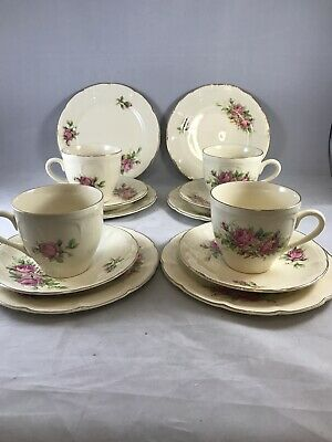 Royal Art Pottery Tea Cups, Saucers And Side Plates • 14.95£