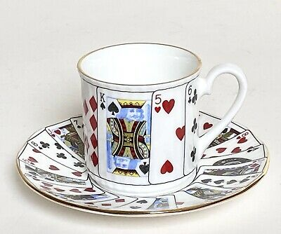 Queens China Cut For Coffee Espresso Cup & Saucer Duo • 10£