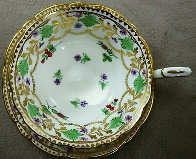 Hammersley 1920 Hand Painted Tea Cup & Saucer Pattern 4809 Thomas Goode Retail • 35£
