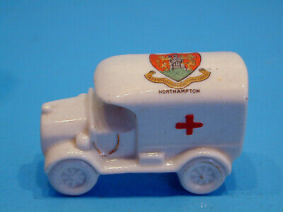 Arcadian WWI Crested China Red Cross Van - Northampton • 19.99£