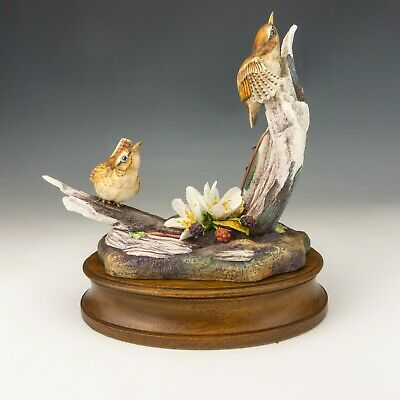 Hereford Fine China - Wrens - Porcelain Bird Study Figure - Limited Edition! • 29.52£