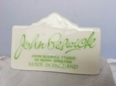 Beswick China Advert Display Sign Plaque Shop Dealer Point Of Sale • 4.99£