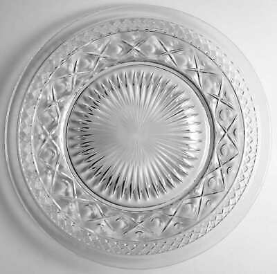 Imperial Glass Ohio CAPE COD CLEAR (#1602 & #160) Dinner Plate 236457 • 27.78£
