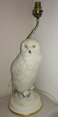 Franklin Mint Snowy Owl Lamp In Excellent Condition Stunning Piece • 80£