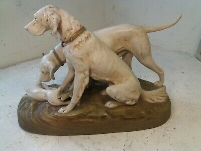 Large Royal Dux China Dogs Figure , Pointers ? • 107£