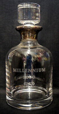 Sterling Silver & Crystal Millennium Whisky Decanter : 2000, Broadway & Co. • 11.50£