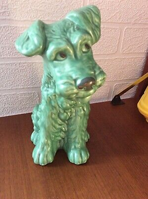 Vintage Sylvac Terrier 8 Inches Green 1379 Dog • 35£
