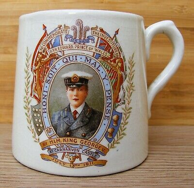 Royal Winton – Mug To Commemorate Investiture Of HRH Edward Prince Of Wales 1911 • 49.99£